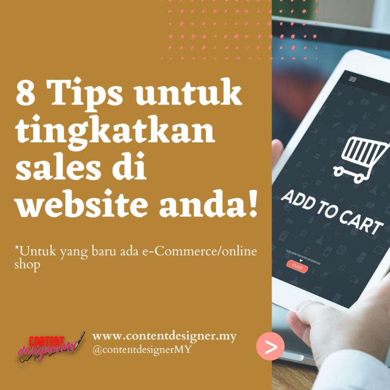 cara tingkatkan sales di website